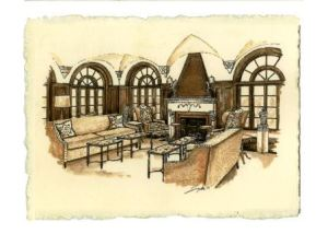 Rendering of the solarium at Villa De Luxe!